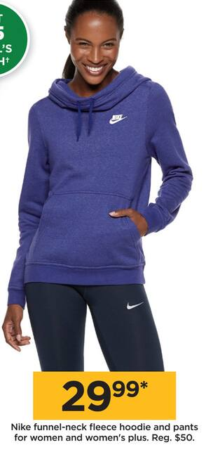 e66df7ec31d Kohl s Black Friday  Nike Funnel-Neck Fleece Hoodie and Pants for Women and  Women s