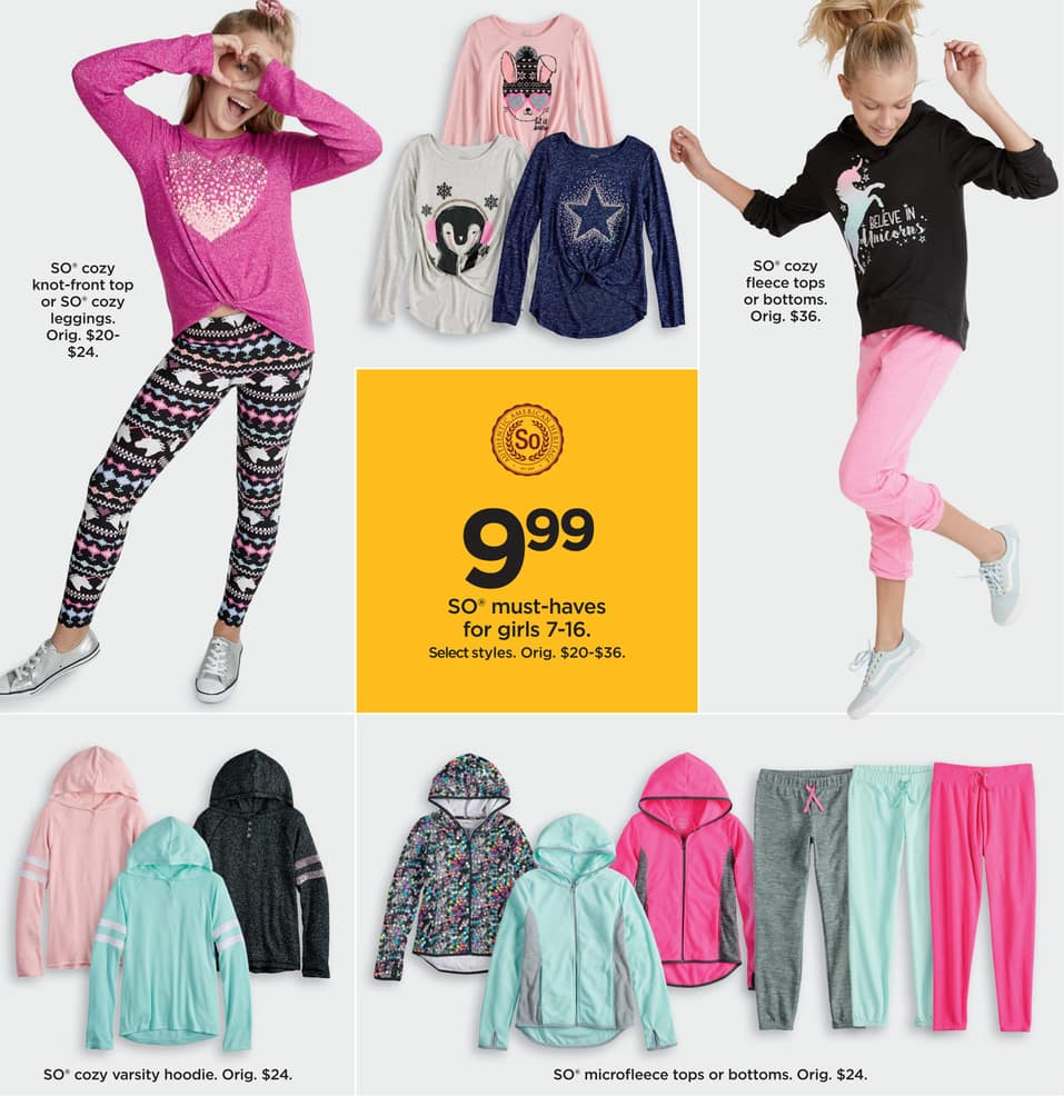 Kohl S Black Friday So Must Haves For Girls Cozy Knot Front Top Or