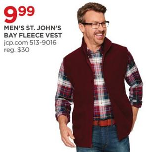 63e84543ae1d0 JCPenney Black Friday  St. John s Bay Men s Fleece Vest for  9.99 ...