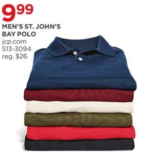 cf2656e8 JCPenney Black Friday: St. John's Bay Men's Polo Shirt for $9.99 ...
