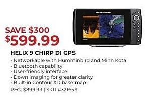 Gander Outdoors Black Friday: Humminbird Helix 9 CHIRP DI