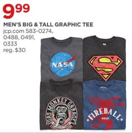 edb0883c1 JCPenney Black Friday: Men's Big & Tall Graphic Tee for $9.99 ...