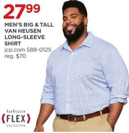 fe71863e1 JCPenney Black Friday: Van Heusen Men's Big & Tall Long-Sleeve Shirt for  $27.99