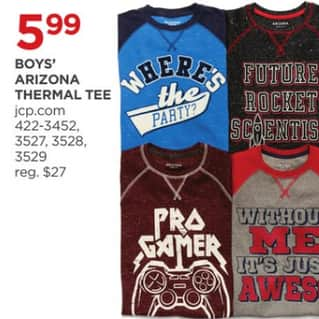 Jcpenney Black Friday Arizona Boys Thermal Tee For 5 99