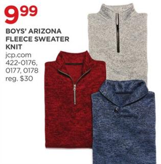 Jcpenney Black Friday Arizona Boys Fleece Sweater Knit For 9 99