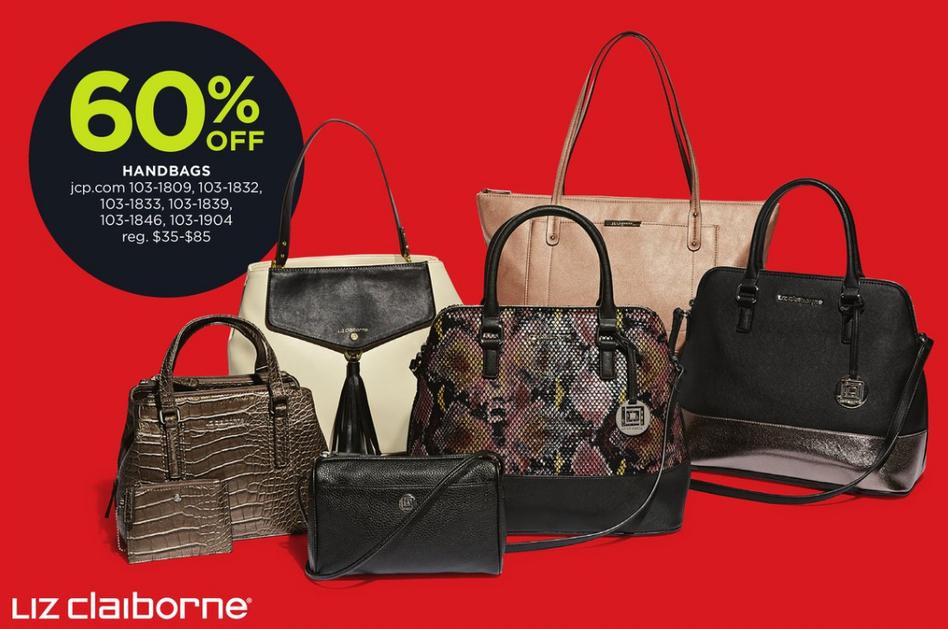Jcpenney Black Friday Liz Claiborne Handbags 60 Off Slickdealsnet