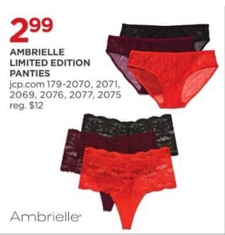 official photos c7aa9 ec165 JCPenney Black Friday Ambrielle Limited Edition Panties for 2.99