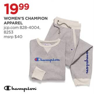 730b39ee8e58a8 JCPenney Black Friday  Champion Women s Apparel for  19.99 ...