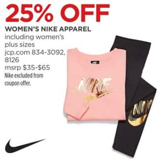 27250ba2 JCPenney Black Friday: Nike Women's Apparel - 25% Off - Slickdeals.net