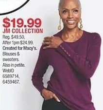Macy S Black Friday Jm Collection Women S Blouses And Sweaters