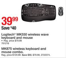 60c06f8bd0c Staples Black Friday: Logitech MK875 Wireless Performance Keyboard and Mouse  Combo for $74.99