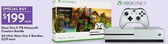 Walmart Black Friday: Xbox One S 1TB Mincraft Creators