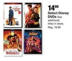 Fred Meyer Black Friday: Select Disney DVDs: Christopher