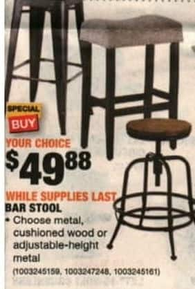 Home Depot Black Friday Bar Stool Metal Cushioned Or Adjustable