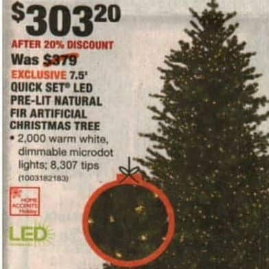 Home Depot Black Friday Home Accents Holiday 75 Ft Pre Lit Led