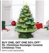 Michaels Black Friday Mr Christmas Nostalgic Ceramic Christmas