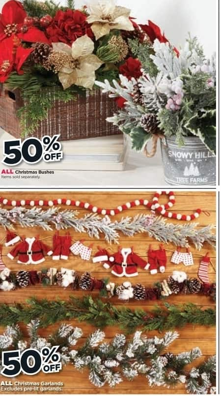 Michaels Black Friday All Christmas Bushes And Garland 50 Off