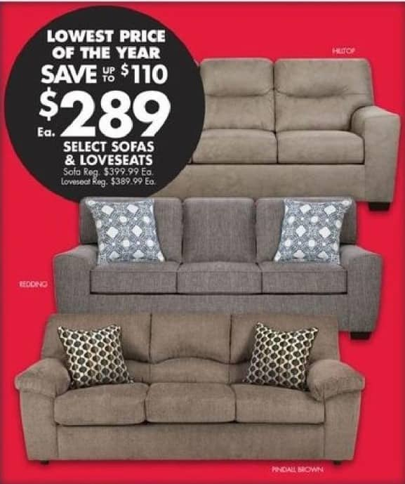 Sofas Loveseats Select Styles
