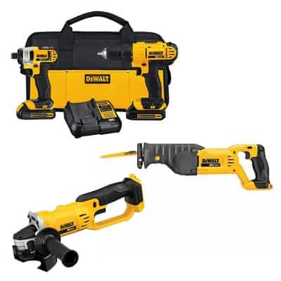 DeWALT 20V MAX Li-Ion Drill/Impact Combo Kit w/ 2x 1.3Ah Batteries Charger Bag + Free Select Tool $190 @TSC + Free Store Pickup