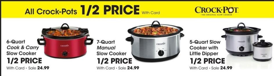 Fred Meyer Black Friday Crock Pot 6 Quart Cook Carry Slow Cooker For 24 99