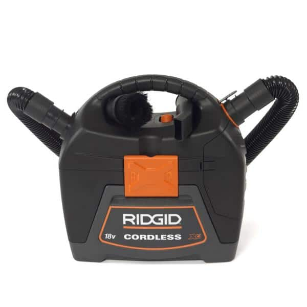 Ridgid 3 Gal. 18-Volt Cordless Handheld Wet Dry Vac with blower $84.97 Home Depot
