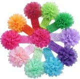Amazon Deal: Amazon - (10 Pack) Baby Girl's Lace Flower Headbands $8.16 or  (10 Pack) Baby Girl's Chiffion Flower Hair Bow Headbands $8.60 F/S