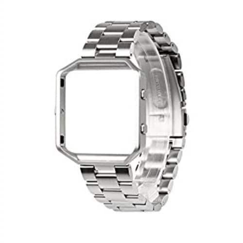 Metal Link Bracelet Replacement Strap for Fitbit Blaze - Silver [Silver] - $9.95 + Free Shipping @ Amazon