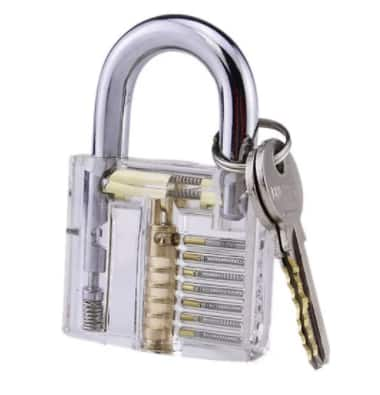 Lock Pick Skill Training Practice Lock  Padlock - $3.99 + Free Shipping @ Gamiss