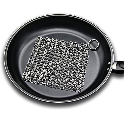 "Amagabeli 8""x6"" Stainless Steel Chainmail Scrubber for Cast Iron - $6.21 + Free Prime Shipping @ Amazon"