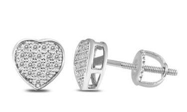 Diamond Heart Earrings - $19 + Free Shipping @ Szul