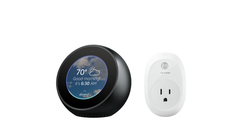 Amazon Echo Spot with TP Link Smart Plug - $109.96 + Free Shipping