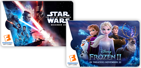 Fandango: Get a $20 Concession Certificate with Gift Card Orders $100+