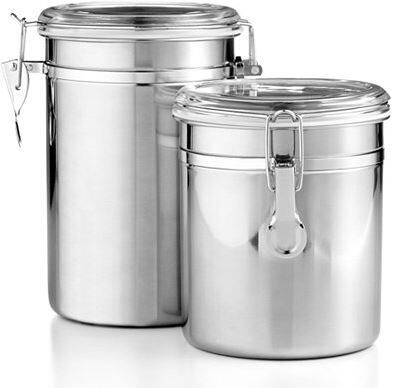 Martha Stewart 2-Pc Stainless Steel Canister Set, $8