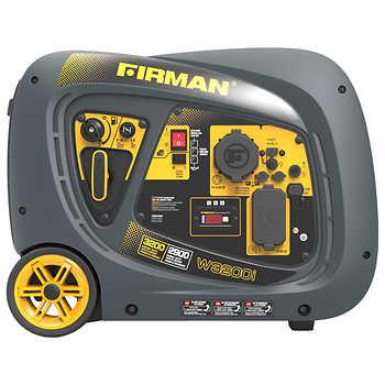 Firman Power Equipment 3200W Peak Running/ 2900W Running Gas Inverter Generator, $539.99
