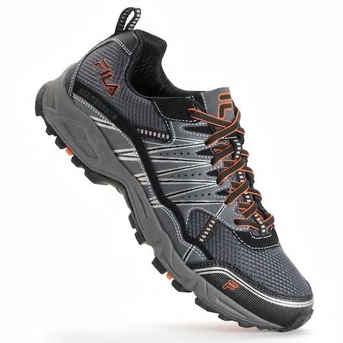 9c680bcdbc4e FILA Tractile Men s Trail Running Shoes (Gray) - Slickdeals.net
