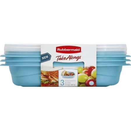 Newell Rubbermaid 3.7cup Snack 3pk To Go w/ Free Store Pickup (YMMV), $2.46