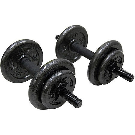 Gold's Gym Adjustable 40 lbs Cast Dumbbell Set w/ Free Store Pickup, $29.99