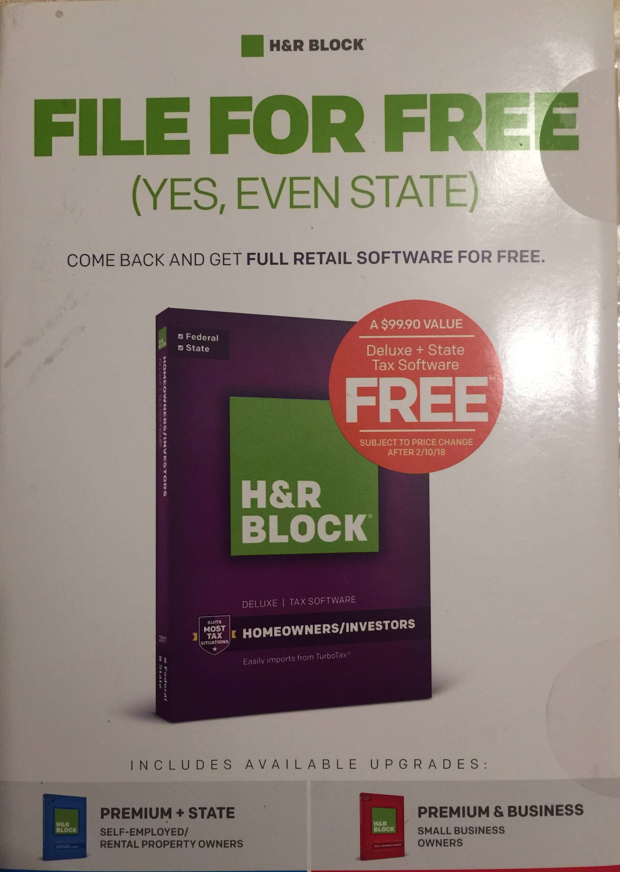 HR Block Tax Software Free CD In Mail YMMV