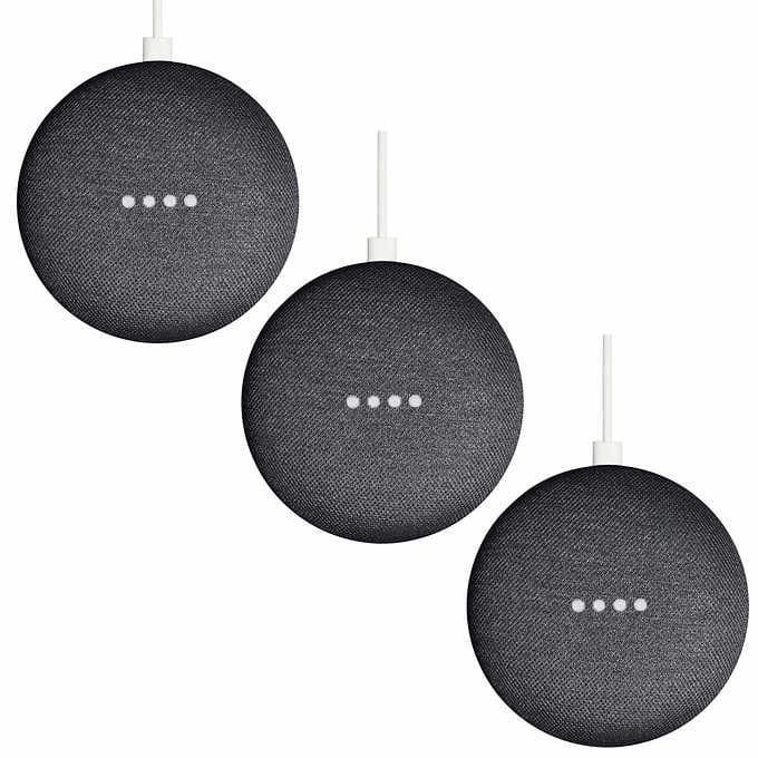 3 Pack - Google Minis for under 70 dollars - Free Shipping! $69.99