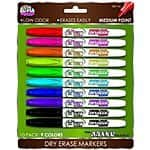 Board Dudes SRX Dry Erase Markers, Medium Point, 10-Count, Assorted Colors $5.49 & FREE Shipping