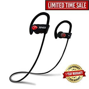 SENSO Bluetooth Headphones, Wireless Sports Earphones w/ Mic IPX7 Waterproof HD Stereo Earbuds ($35.97)n