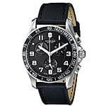 "Victorinox Men's 241493 ""Chrono Classic"" Stainless Steel Watch with Black Leather Band - $264"
