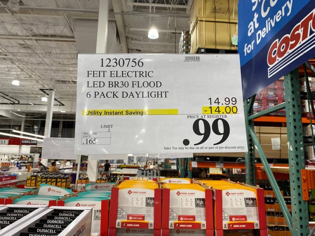[YMMV][BnM] [Costco] Feit Electric LED BR30 Flood Daylight/Softwhite, 6-pack (not12) $0.99