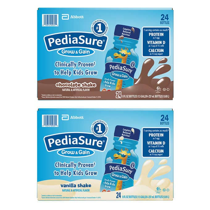 PediaSure 24-count  8 oz $29.49 Free Shipping at Costco or Amazon, $28.02 @ Amazon S&S