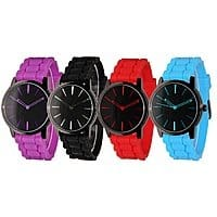 Two-Tone Silicone Watch for Men and Women $  7.99 + ship @ groupon