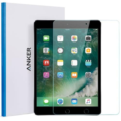 iPad Pro 10.5'' Screen Protector , Anker [Double Defence] Tempered Glass Screen Protector - Retina Display / Apple Pencil Compatible / Scratch Resistant $6.99