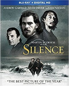 Silence (2016) Blu-ray + Digital HD for $5.99 at Amazon, Free Ship with Prime $5.96