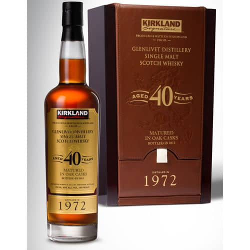 Kirkland Signature Glenlivet Distillery 40-Year-Old Single Malt Scotch Whisky in store now $700~