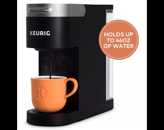 Keurig K-Slim® Coffee Maker 46oz 109.99 sale $20 off + 25% off w coupon + free ship $67.49