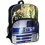 "Back To School Sale Star Wars The Droids 16"" Backpack $14.99 + ship @ Kmart"